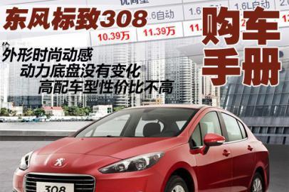 首选中低配车型 东风标致308购车手册