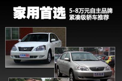 家用首选 5-8万元自主品牌紧凑级轿车推荐