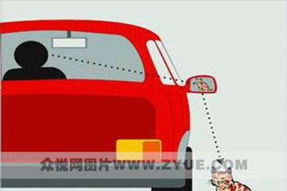 停车入库小技巧——用好倒车后视镜