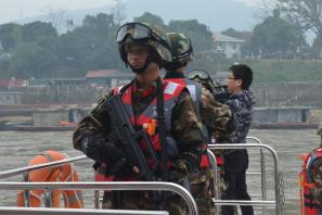 红河边防支队在中越界河启动水上巡逻执法