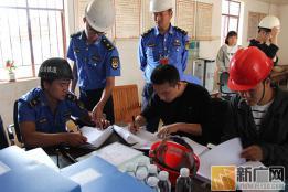 建水县开展在建工地安全生产文明施工大检查