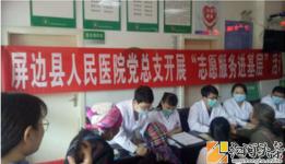 """屏边县人民医院党总支开展""""志愿服务进基层""""系列活动"""