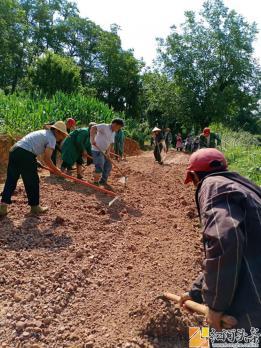 午街铺镇林树村发动党员干部群众开挖修缮田间道路12公里