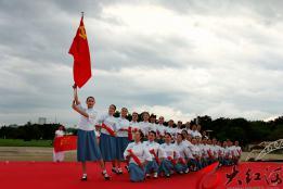 开远市尚媛旗袍协会举行国庆年庆祝活动