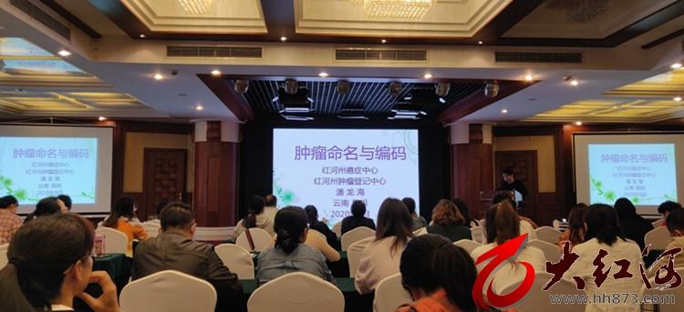 红河州第三人民医院派员为云南省2020年慢病监测能力培训班授课