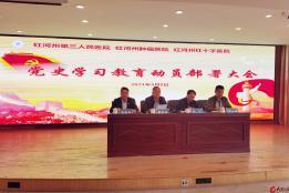 红河州第三人民医院党委召开党史学习教育动员部署大会